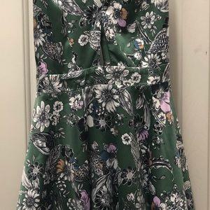 Mini dress with keyhole and unique straps!